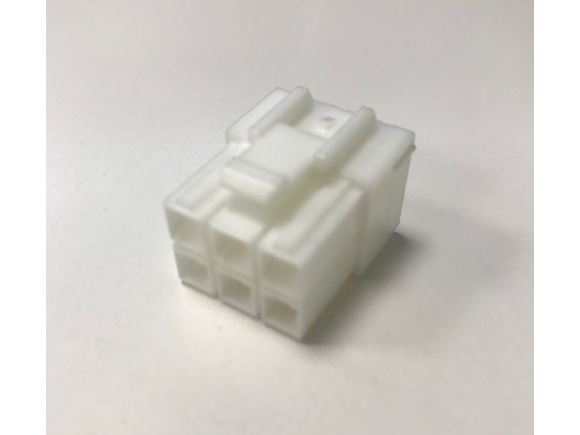 White 6 Way Harness Connector Male product image