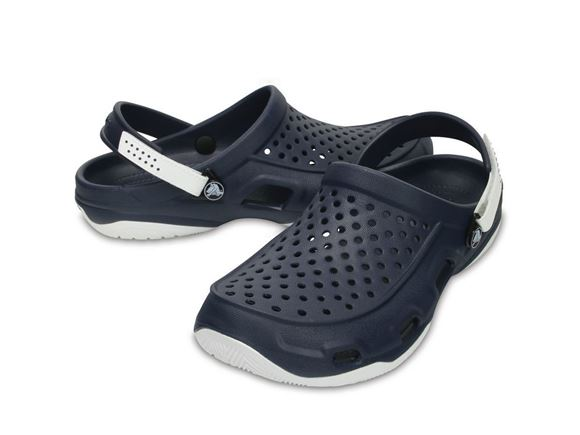Crocs Mens Swiftwater Deck Clog Navy/White M9 product image