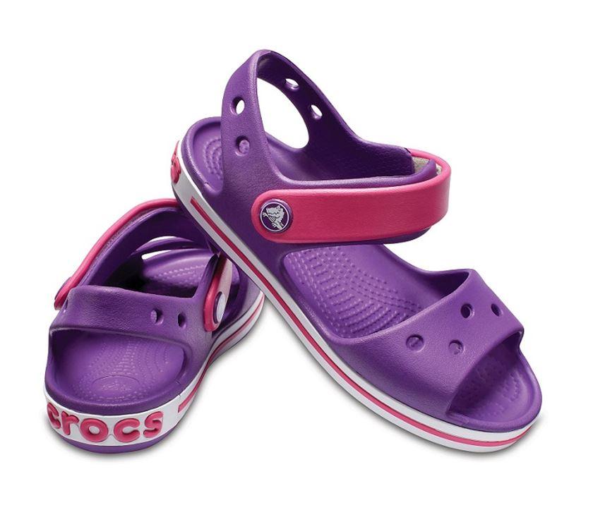 3739862d8f131 View larger  Crocs Crocband Sandal Kids Amethyst Pink C9