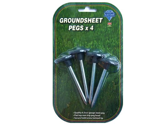 Read more about Metal Groundsheet Pegs x 4 product image