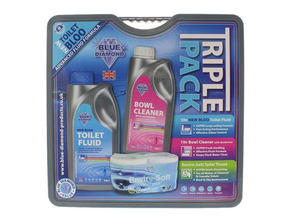 1L Big Value Triple Pack - Toilet Roll & Chemicals product image