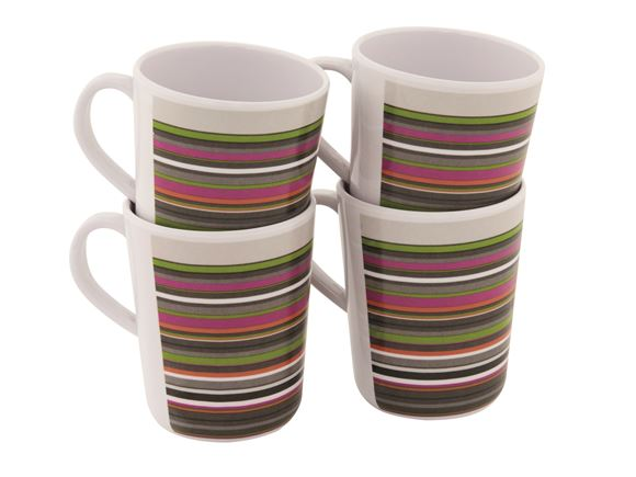 Outwell Blossom Melamine Mug Set Magnolia Red product image