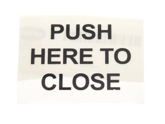 'PUSH HERE TO CLOSE' Label product image