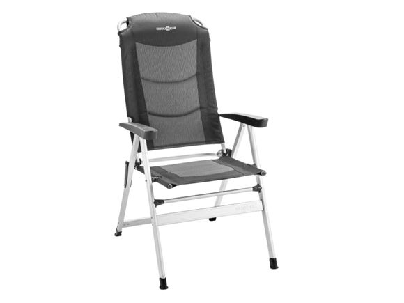 Brunner Kerry Slim Aluminium Recliner Charcoal product image