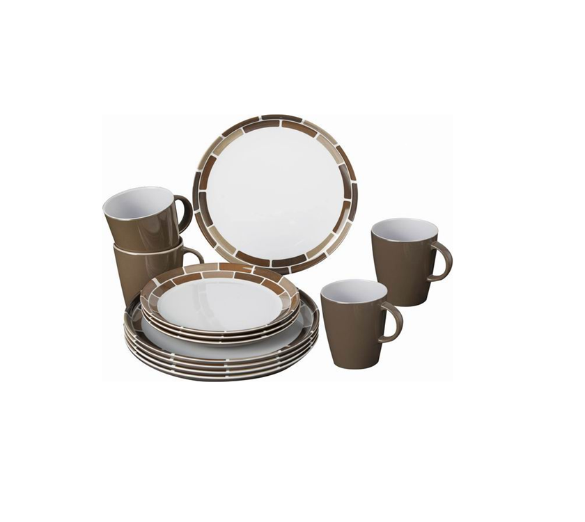 Brunner Chocolate Melamine Tableware Set | PRIMA Leisure