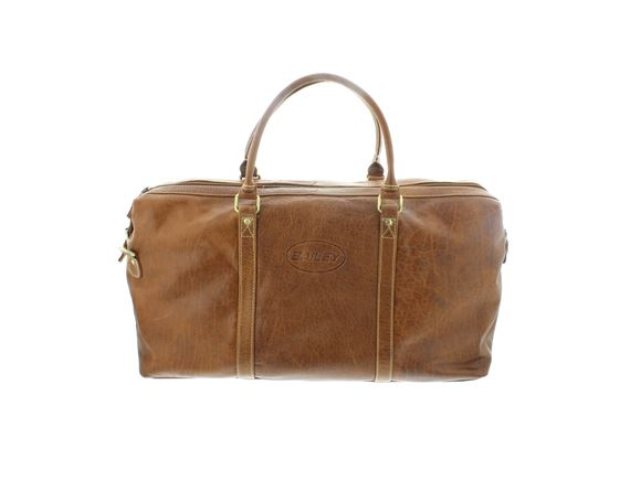 Read more about Bailey Monogrammed Leather Holdall Weekend Bag product image