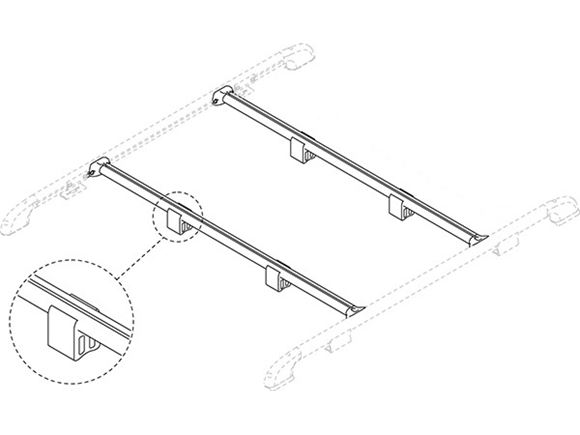 Fiamma Motorhome Roof Rail Fixing Bar (Pair) product image