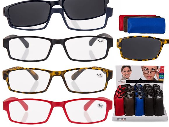 Plastic Reading Glasses & Magnetic Sunglasses Clip product image