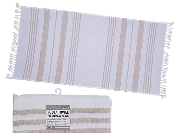 Fouta Beach Towel 90x180cm White/Biscuit product image