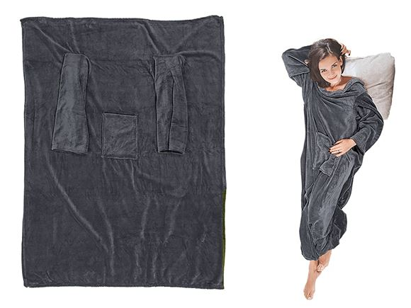 Comfort Blanket w/ Sleeves & Pockets - Anthracite product image