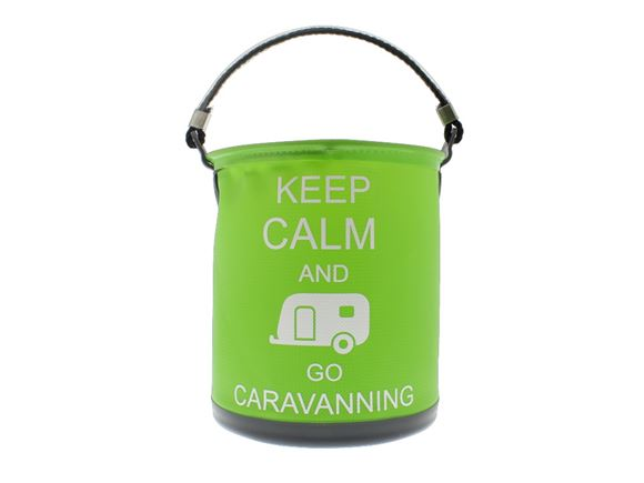 Colapz Bucket - Keep Calm & Go Caravanning - Green product image