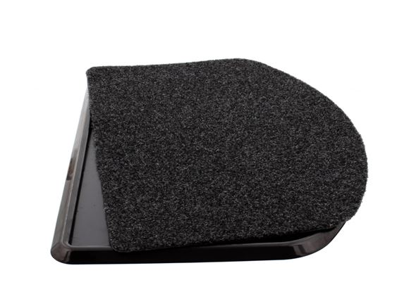Black Curved Safety Tray & Plain Mat product image