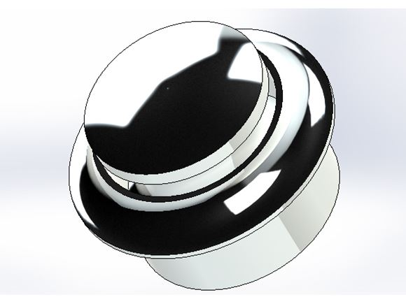 Large Plastic Rosette & Push Button Chrome (Set) product image