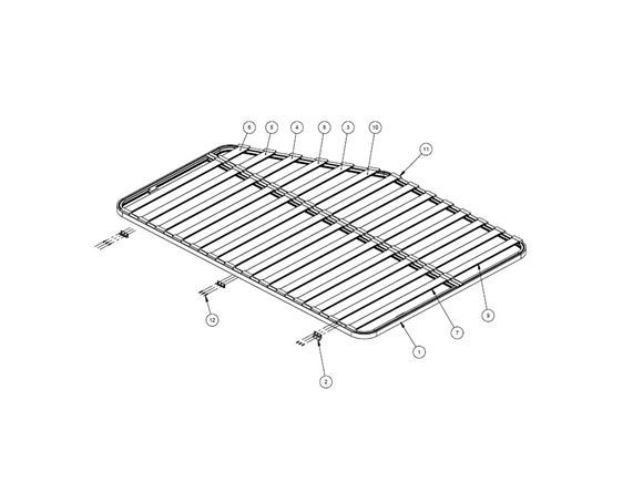 AH2 75-2 & 75-4 Fixed Bed Frame & Slat Assembly product image