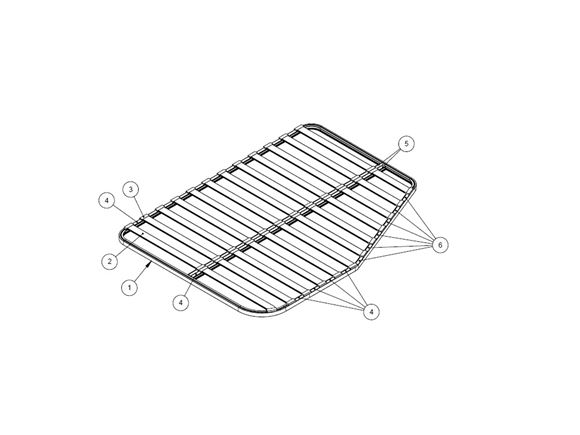 UN4 Valencia Barcelona Fixed Bed Frame Assembly product image