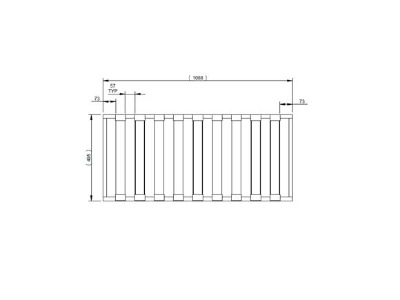 AH2 79-6 N/S Front Seat Base Slat Assembly product image