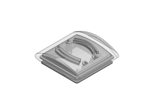 280x280 VisionVent Roof Light w/ Blind & Fly Net product image