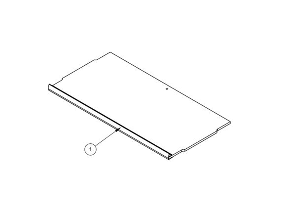 PX1 PS6 6' N/S Front Locker Shelf 459mm product image