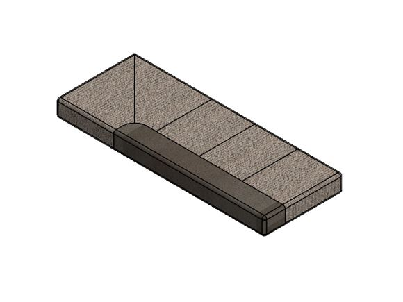 PS6 G Lounge O/S Front Base Cushion 1695x640x140mm product image
