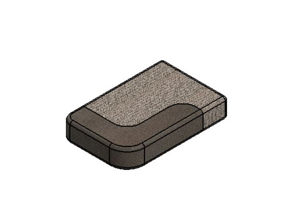 PS6 G Lounge N/S End Seat Base Cushion 485x745x140 product image
