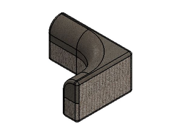PS6 G Lounge O/S Corner Backrest Cushion product image
