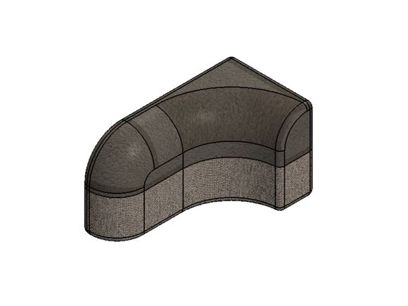 PS6 G Lounge N/S Corner Backrest Cushion product image