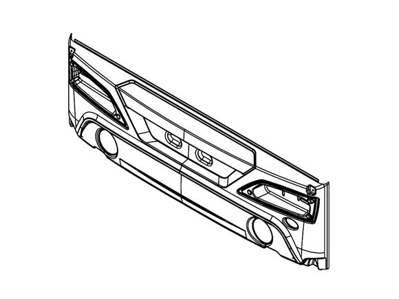 PX1 Rear Bumper Moulding product image