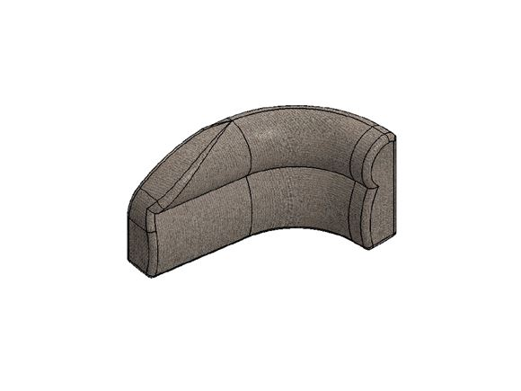 AG1 O/S Bulkhead Corner Backrest Portobello product image