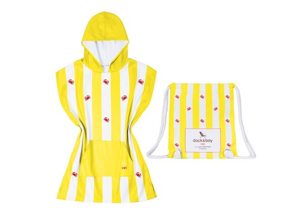 Dock & Bay Poncho Crab Yellow - Small product image