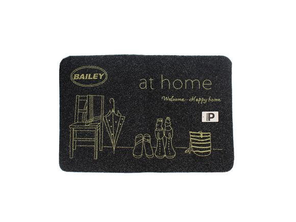 Bailey Black Carpet Welcome Mat product image