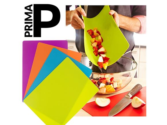 PRIMA Set of 4 Flexible Plastic Chopping Mats product image