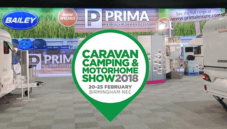 Prima at the NEC Caravan, Camping & Motorhome Show 2018